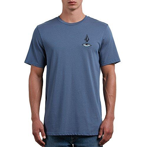 (Volcom Men's Burch Eye Short Sleeve Tee, DEEP Blue, XL)