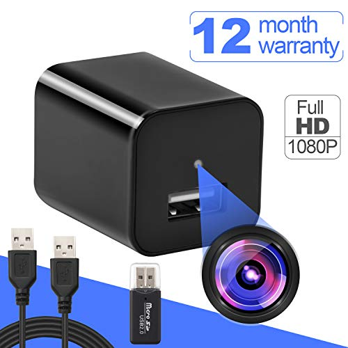 Hidden Spy Camera -Motion Sensor Security - HD 1080P Wireless Surveillance Video Cameras - USB Hidden Camera - Portable Home & Travel Cams - Built-in Battery - No WiFi Need