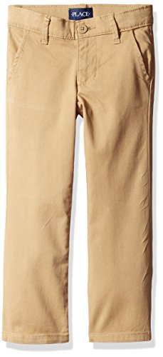 The Children's Place Big Girls' Skinny Uniform Pant, Sesame, 8