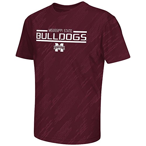 Youth NCAA Mississippi State Bulldogs Performance Short Sleeve Tee Shirt (Team Color) - L