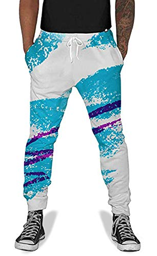 UNIFACO Men Women Print 90s Cup Jogging Pants Casual Graphric Sweatpants Trousers with Pockets