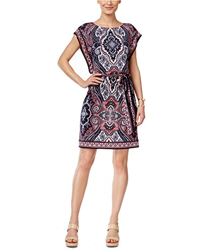 Buy belted paisley dress - 3