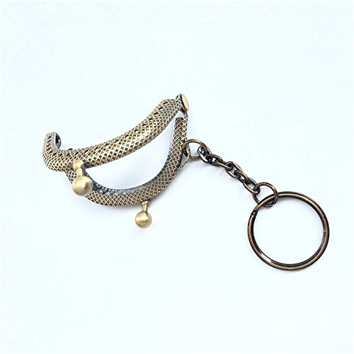 GuoFa 5cm Vintage Clutch Coins Purse Metal Arc Frame Kiss Clasp Key Ring Handbag Handle Frame 10Pcs