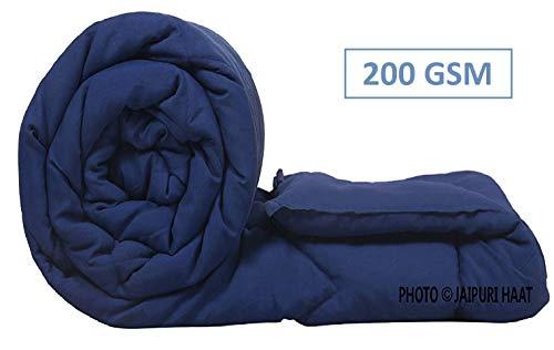 Jaipuri haat Microfibre Filled Single Duvet/Comforter/Quilt with Travel Bag Size: 90x62inch,(200...