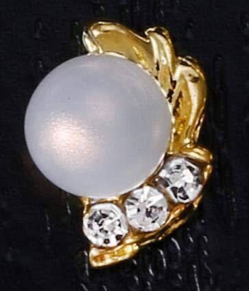 Nail Art Equipment - Alloy Nail Charms, Nail Art Rhinestones,10Pcs Alloy Pearls Nail Charms Glitter Opal Rhinestones Metal Nail Jewelry Nail Metal Parts - Style 92 ()