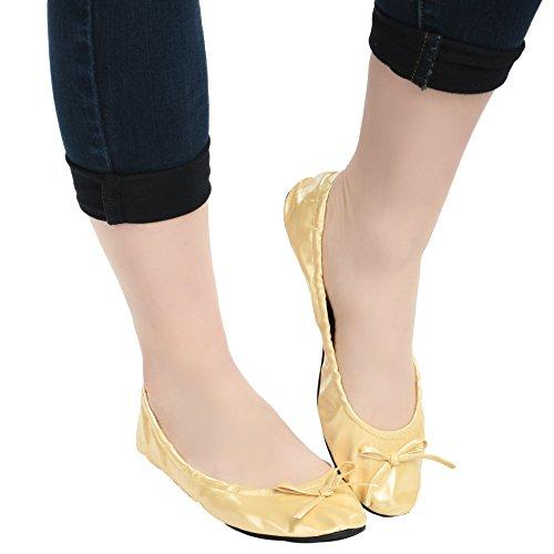 Vouwschoenen Voor Dames, Dames, Opklapbaar, Balletschoenen, Met Draagkoffer Beige