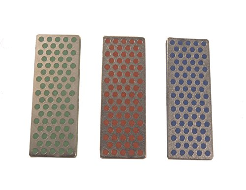 DMT W7EFC Diamond Whetstone Mini Diamond Stone - Coarse / Fine / Extra-Fine - Set of 3 (Whetstone Hone Diamond)
