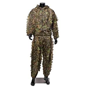 Buffalo Woodland or Forest Camo Ghillie Suit 3-D Leafy Poncho,Free Size