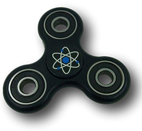 Think Fidget 3D Tri-Spinner Focus Toy, Black TF-BLK-1