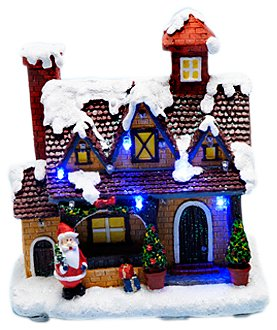 snow white light up christmas village house