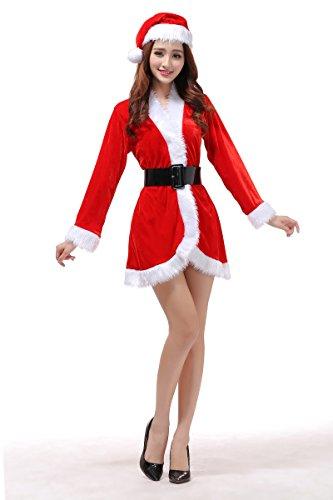 サンタ コスプレ セクシー 衣裳 レディース ケープ コスチューム ポンチョ サンタコス サンタコスプレ フリル スカート サンタクロース クリスマス サンタ帽子 仮装 大人 可愛い かわいい スカート ワンピース 赤 パーティ衣装 インスタ映え ホビー サンタ3点セット