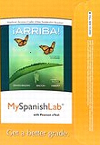 Mylab Spanish With Pearson Etext    Access Card    For  Arriba   Comunicaci N Y Cultura  2015 Release  One Semester   6Th Edition
