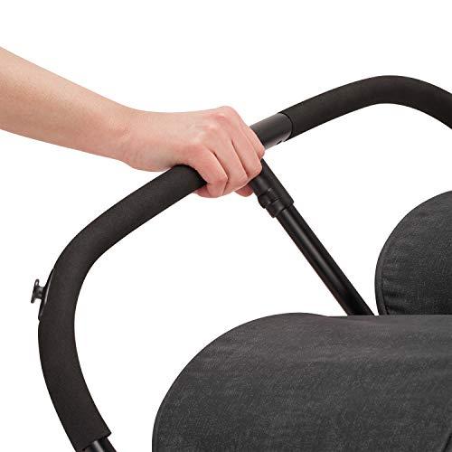 416eTfl PdL - Evenflo Aero2 Ultra-Lightweight Double Strollers, Compact, Self-Standing Folding Design, Shopping Basket Single-Child Mode, Seatback Storage Pocket, 2 Mesh In-Seat Pockets, 50-lb Per Seat, Osprey Gray