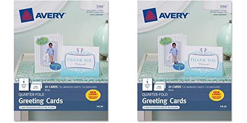 Avery Quarter Fold Greeting Inkjet Printers