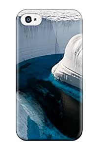 Discount Series Skin Case Cover For Iphone 4/4s(blue Ice Lake)