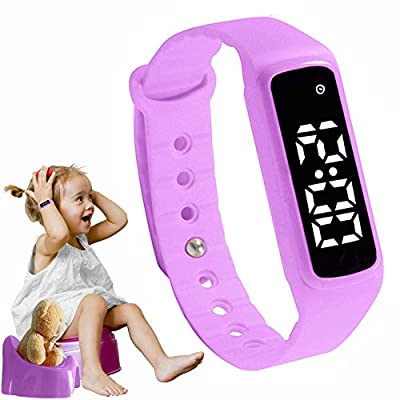 GOGO Potty Training Watch - Baby Reminder Water Resistant Timer - Potty Trainer for Toilet Training Girls & Boys - Kids & Toddler Potty Training Toilet Watches Girls (Pink/Purple)