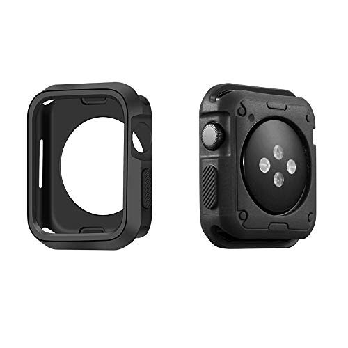 Marialove Compatible with Apple Watch Case Series 4 40mm/44mm, Shock Proof and Shatter-Resistant Protective Bumper Cover Replacement for iWatch Series 4