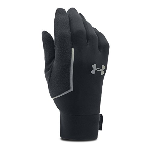 Under Armour Men's No Breaks Armour Liner Golves, Black/Black, -