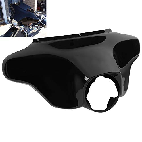 TCMT Black Outer Bat Wing Front Upper Front Fairing Cowl Nose Head Fits For Harley Electra Street Glide Road King FLHR 1996 97 98 99 00 01 02 03 04 05 06 07 08 09 10 11 12 2013