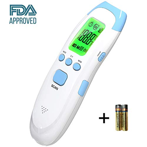 JASUN Medical Digital Forehead Thermometer for Baby, Kid and Adult - Fast and Accurate - Voice Prompts - FDA & CE Approved Thermometer for Fever