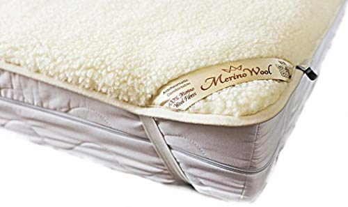 Sale ! Merino Wool Underblanket Wool Sheet Protector Mattress Topper Woolmark Under Blanket (King 76