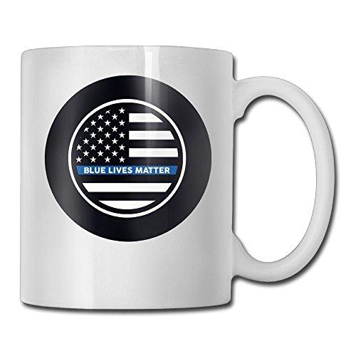 Richard Blue Lives Matter Funny Ceramic Coffee - Northlake Glass