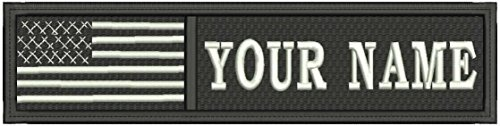 Customizable Text 1x4 Patch Hook touch fasteners - Military/Morale - US Flag Tactital - Patch Text