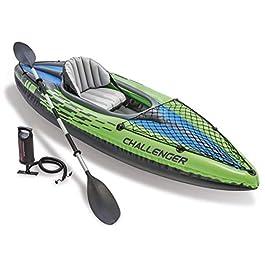 INTEX K1Challenger canoë Kayak 68305pour 1Personne, Gonflable, avec pagaie