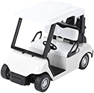 Abaodam Golf Cart Model Diecast,Metal Mini Golf Cart Toy 1: 20 Scale Pull Back Car Vehicle Action Toy Miniatur