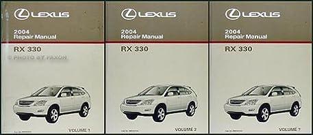 2004 lexus rx 330 repair shop manual original 3 volume set lexus rh amazon com 2004 lexus rx330 repair manual pdf 2004 lexus rx330 owners manual pdf