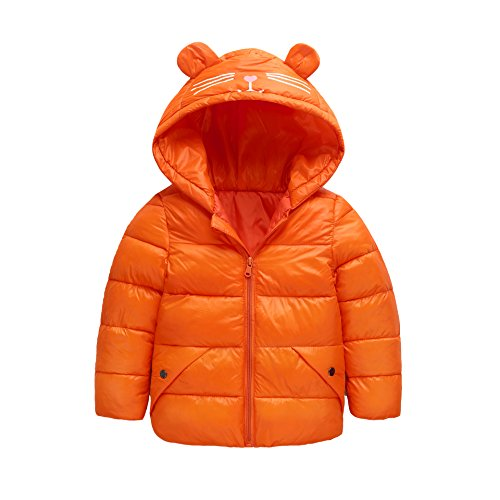 Outwear Kids Coat Blue Hoodie 3 Baby Royal Size Ear Down Baby Fairy Boys Winter 4T Jacket Warm Light orange Girls OC4UPnx
