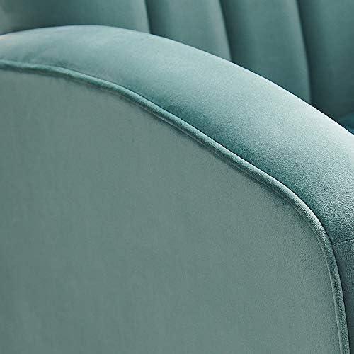 ZSAIMD Modern High Fauteuil Accent, Fauteuil rembourré en Lin Tissu Simple Canapé Chaise avec Pieds en Bois for Le Salon, président Gris Accent, Coin président Fauteuil Club