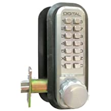 Lockey 2230-BB-DC-KO Mechanical Keyless Lock Janitor Function Double Sided Combination With Key Override - Bright Brass