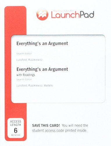 LaunchPad for Everything's an Argument with Readings (Six Month Access) - Pad Reading