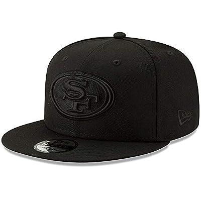 New Era San Francisco 49ers Hat NFL Black on Black 9FIFTY Snapback Adjustable Cap Adult One Size