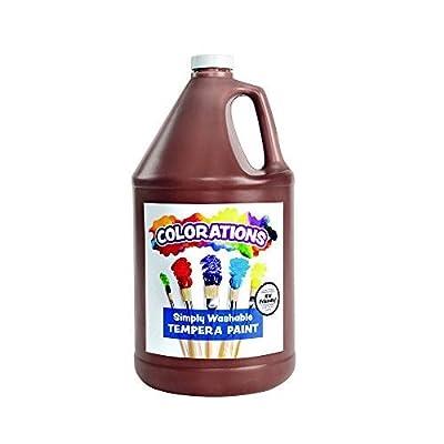 Colorations Washable Tempera Paint, Gallon, Brown, Non Toxic, Vibrant, Bold, Kids Paint, Craft, Hobby, Fun, Art Supplies: Childrens Art Paints: Industrial & Scientific [5Bkhe0500576]