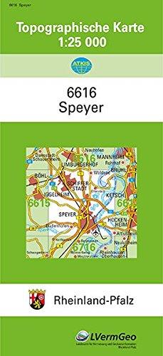 TK25 6616 Speyer: Topographische Karte 1:25000 (Topographische Karten 1:25000 (TK 25) Rheinland-Pfalz (amtlich)) Landkarte – 1. Januar 2017 3896371371 Deutschland Atlas Rheinland-Pfalz / Landkarte