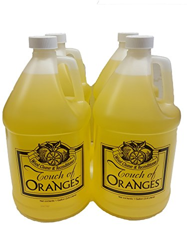Clean Kitchen Cabinets Wood Cleaner Orange Wood Cleaner- 4 Gallon Case by Touch of Oranges