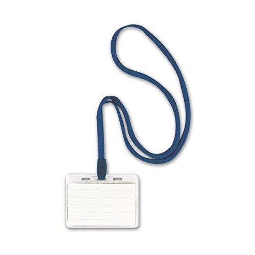 生活日用品 (まとめ買い) 吊り下げ名札 スタンダードタイプ ソフト 青 NF-448-B 1箱(10個) 【×3セット】 B074JRK7BG