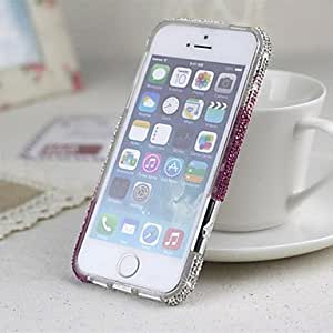 PEACH Gradient Color Zircon Bumper Frame for iPhone 5/5S(Assorted Color)