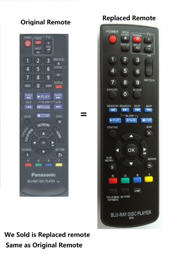 New PANASONIC BLU-RAY DISC DVD PLAYER Replaced Remote IR6 For Panansonic DMP-BD75 DMP-BD755 and All Panasonic Brand Blu-ray DVD player