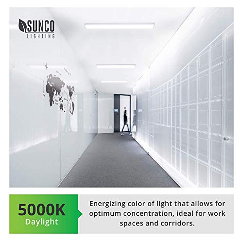 Sunco Lighting 6 Pack Wraparound LED Shop Light, 4 FT, Linkable, 40W=300W, 3500 LM, 5000K Daylight, Integrated LED, Direct Wire, Flush Mount Fixture, Utility Light, Garage- ETL, Energy Star by Sunco Lighting (Image #7)