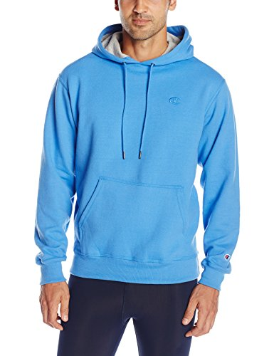 Champion Men's Powerblend Pullover Hoodie, Windchill Blue, Medium