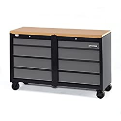 """Waterloo W100 Series 8-Drawer Mobile Workbench, 53"""" - Designed, Engineered & Assembled In the USA"""