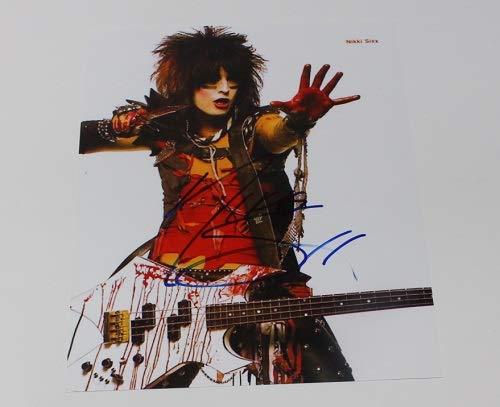 (Motley Crue Shout at the Devil Nikki Sixx Signed Autographed 8x10 Glossy Photo Loa)