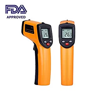 Auveach Temperature Gun Non-contact Digital Laser Infrared IR Thermometer -50 ~ 380℃ (-58°F to 716°F) Instant-read Handheld