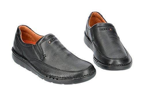 Clarks Unnature Easy - Zapatos de cordones de Piel para hombre Negro negro