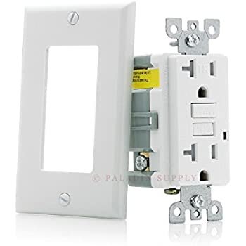 Gfci Outlet Tamper Resistant Receptacle With Led Indicator 20 Amp