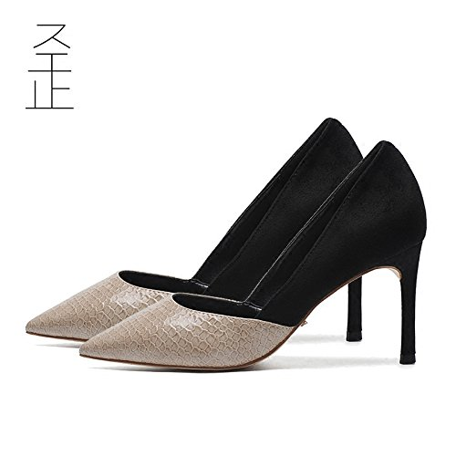 Chaussures Fine Avec Bouche Les À Talon Noir Chaussures Haut Unique Femelle L'Automne Profonde GAOLIM À Chaussures Femmes Noir 10cm Pointe Peu Chaussures q0vZfzWwx