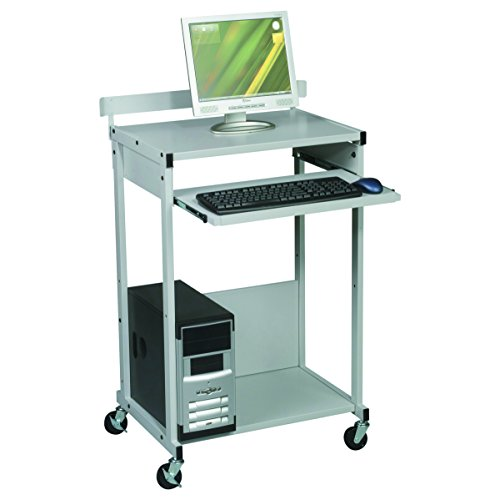 (BALT 25983 Max Stax Dual Purpose Printer Stand, Three-Shelf, 25w x 20d x 42-1/2h, Gray)